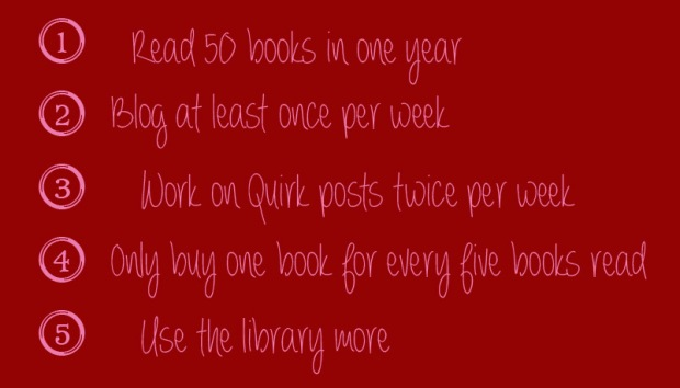 bookish resolutions