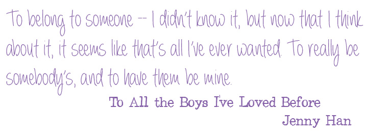 "Book Review: ""To All The Boys I've Loved Before"" By Jenny"